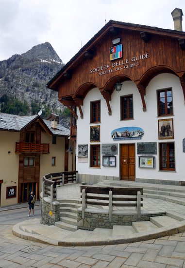 Courmayeur we Włoszech.